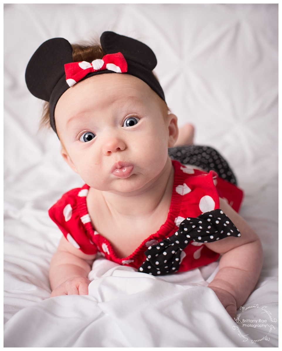 Best Family Portraits by Maine Family Photographers - Minnie Mouse Baby Portrait