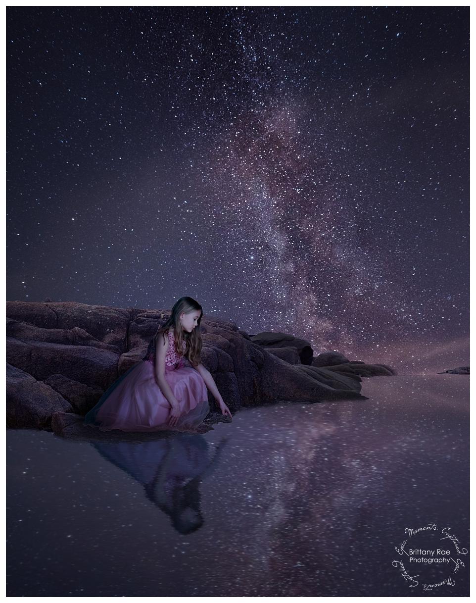 Best Family Portraits by Maine Family Photographers - Milky Way Fantasy Fine Art