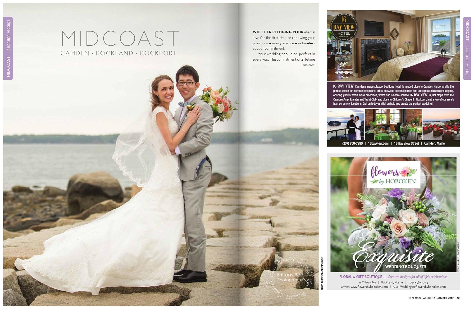 Maine Wedding Photographers Published in Real Maine Weddings Magazine - Samoset Resort Wedding