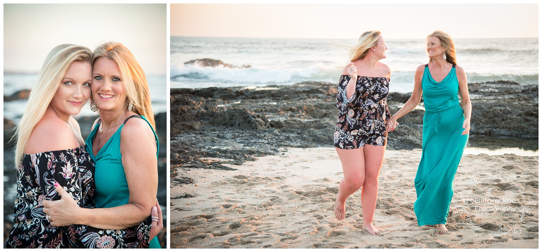 Mother Daughter Portraits in Costa Rica, Tamarindo Wedding Photographers - Playa Langosta Sunset Portraits