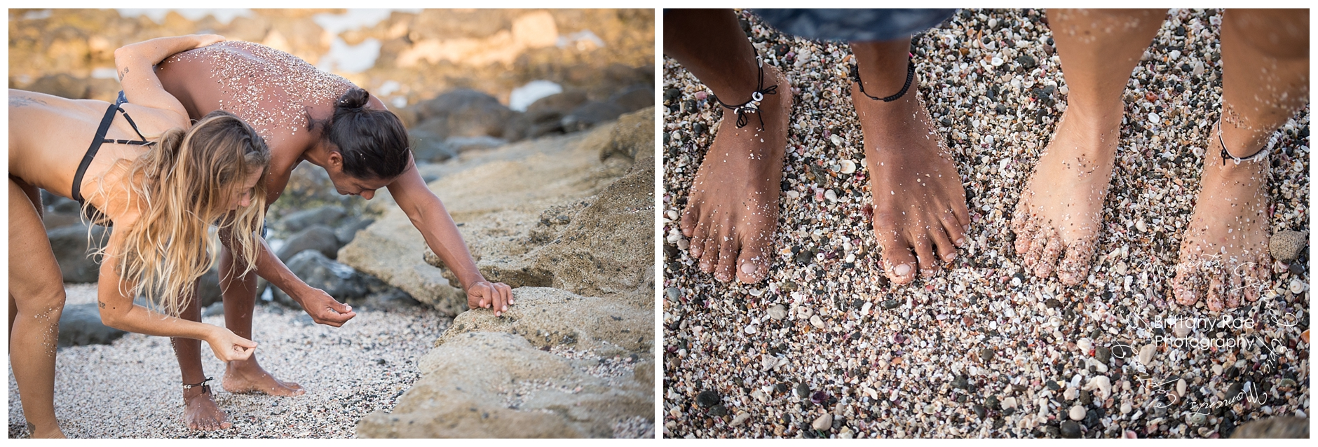 Sexy Day After Portraits by Costa Rica Wedding Photographers - Volcanic Rock Beach and Shells