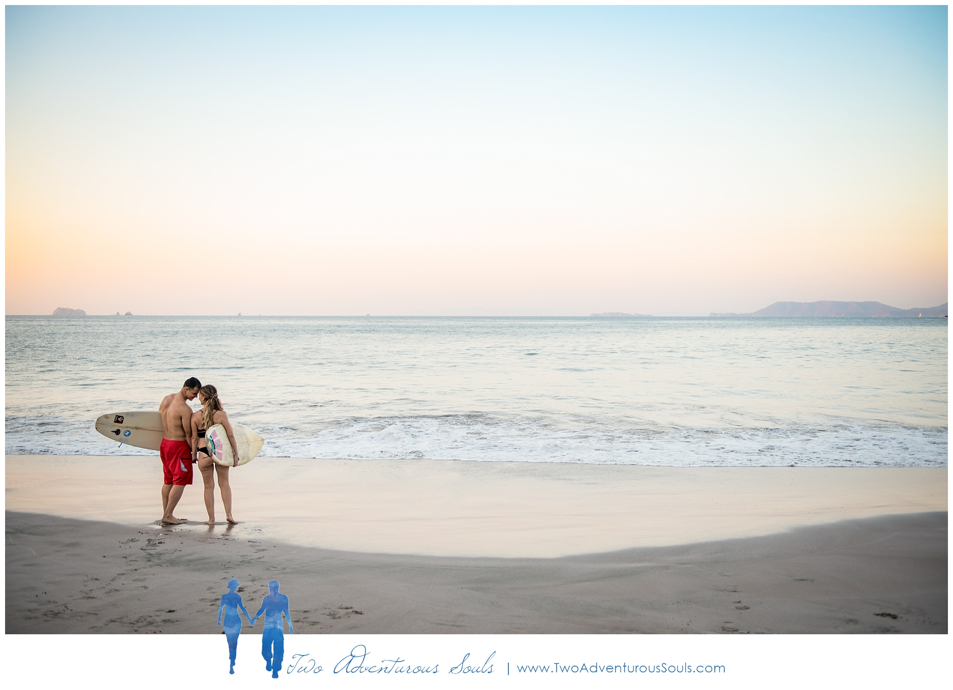 Engagement session in Costa Rica, Playa Minas, Costa Rica Wedding Photographers - Couples Surfing engagement