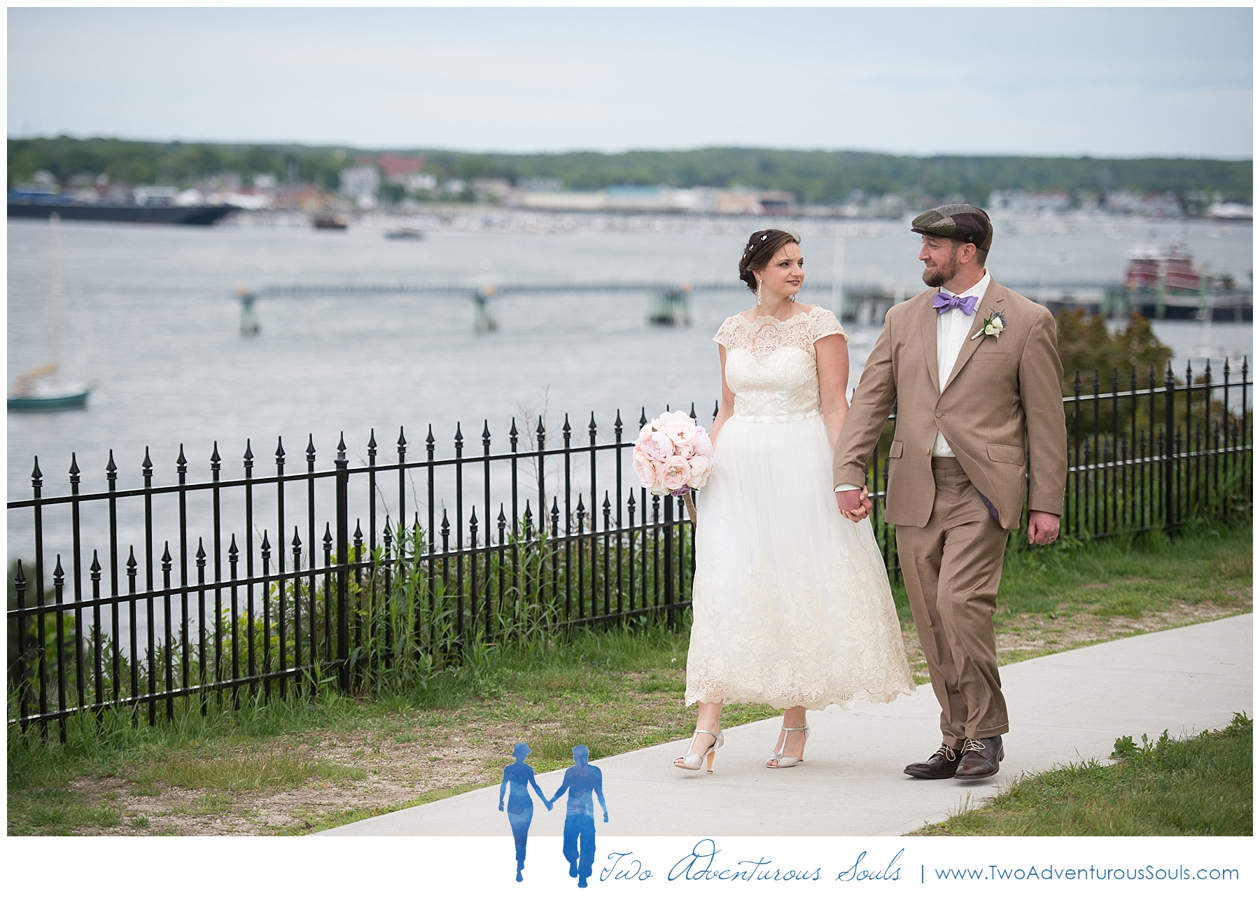 Portland Maine Wedding, Vintage Wedding - Fort Allen Wedding Portraits