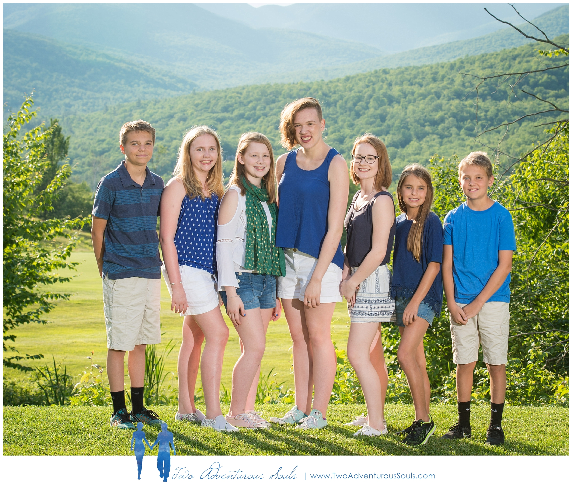 Sunday River Family Portraits in Newry Maine - Grandkids formal portraits