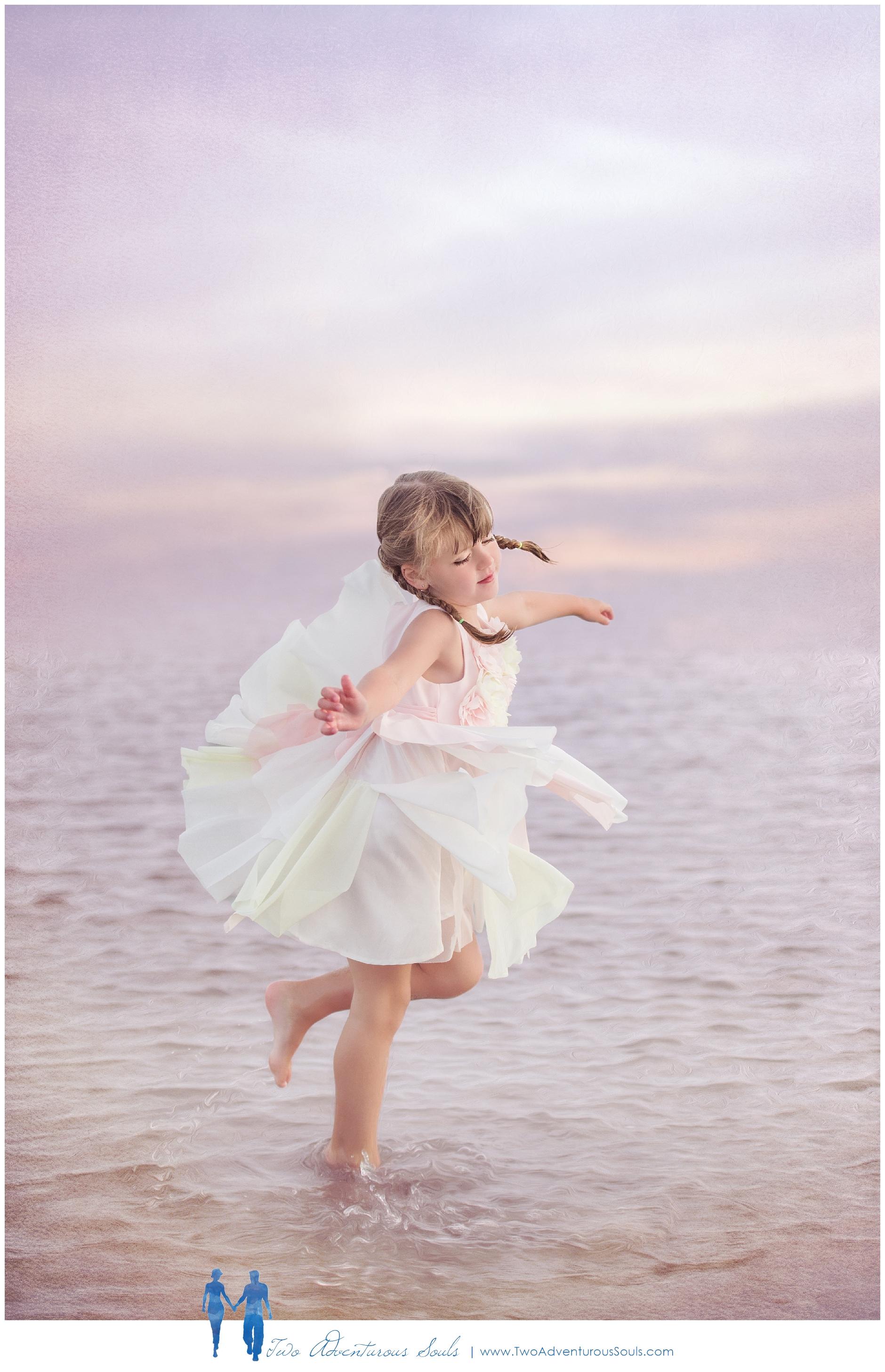Old Orchard Beach Family Portraits, Fine Art Portraits - Ballerina dancing on the beach