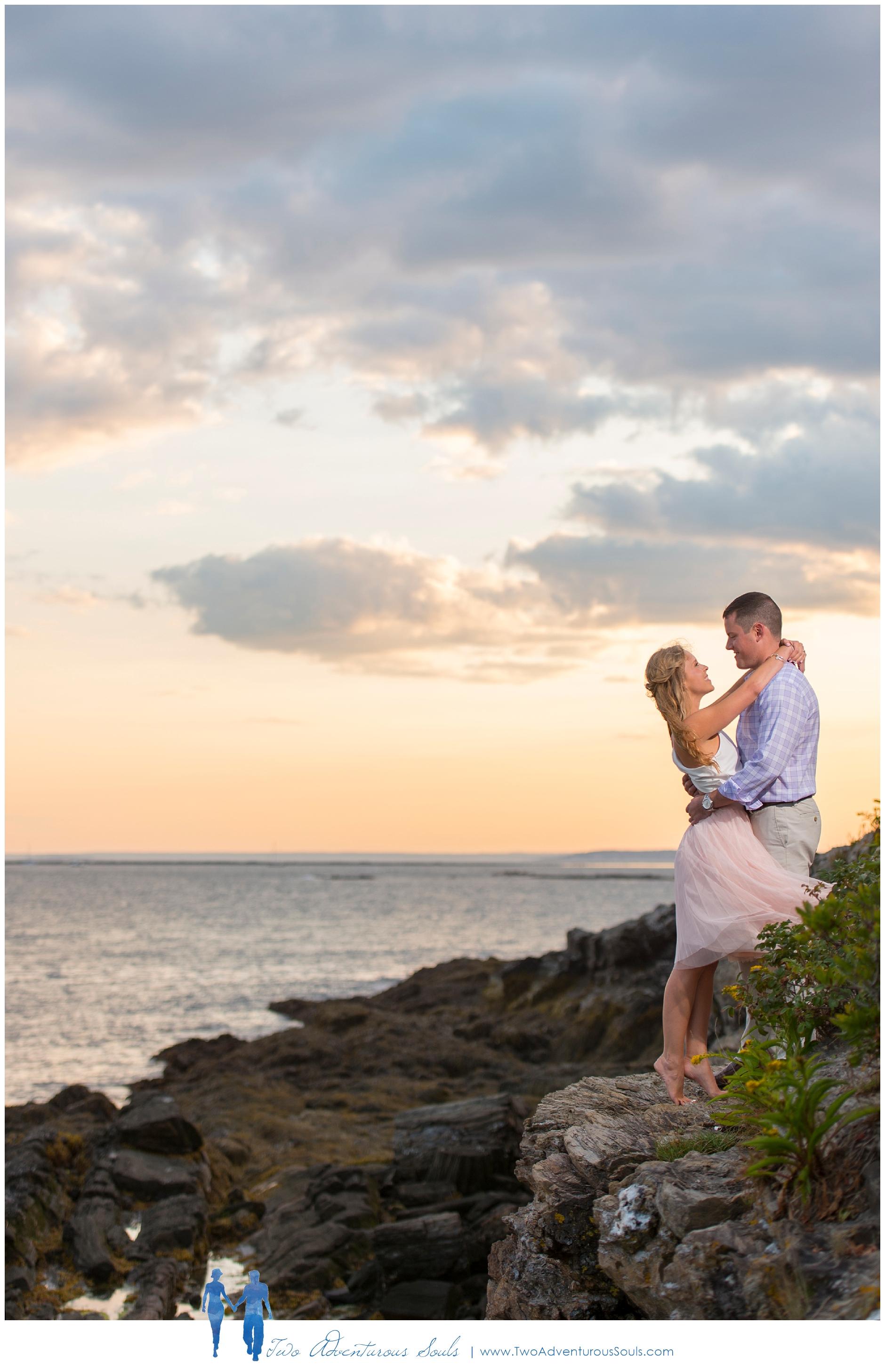 Kettle Cove Engagement Session, Cape Elizabeth Maine -
