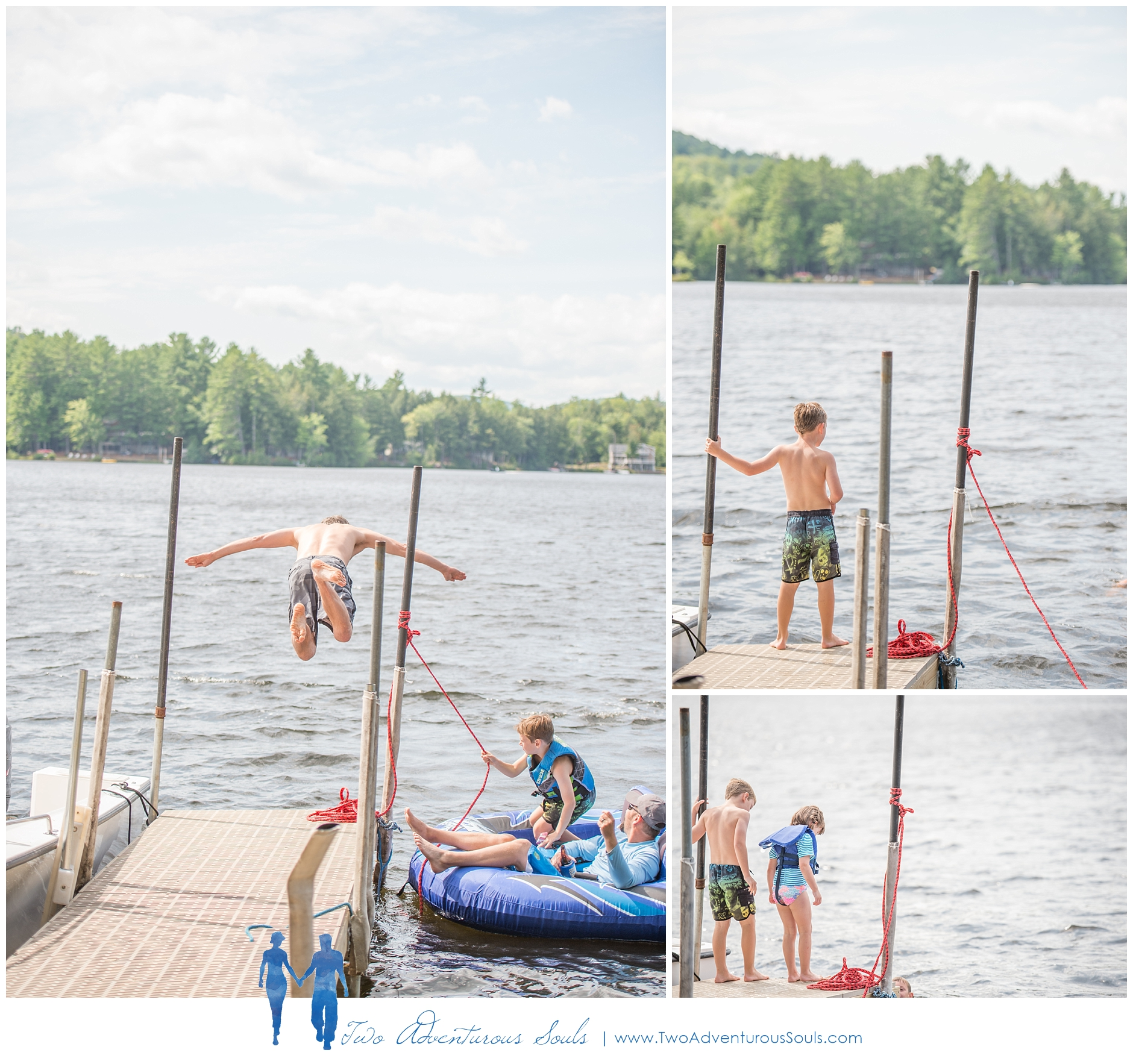 Maine Vacation Family Portraits, Lake Family Photos -