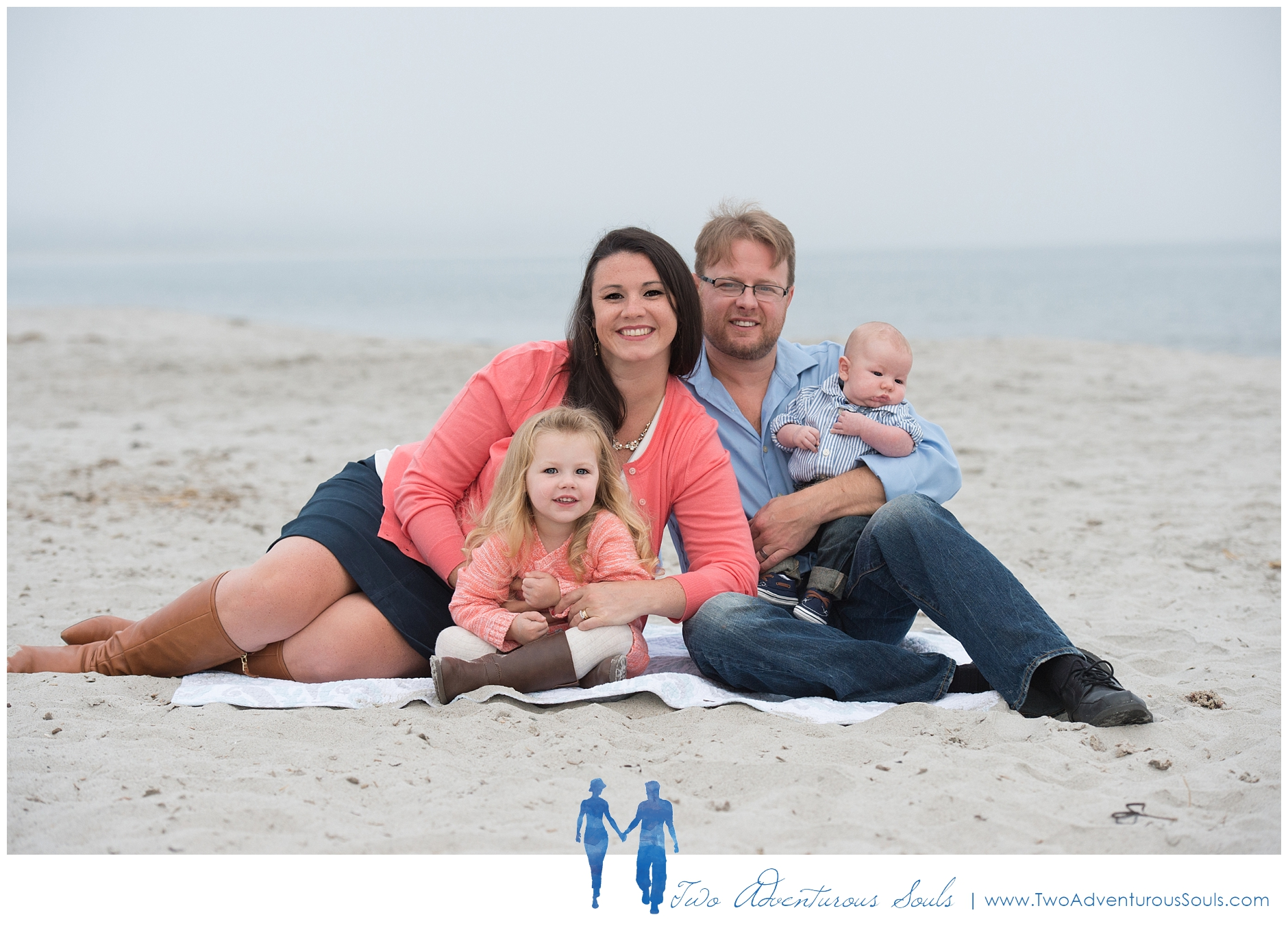 Pine Point Beach Family Portraits by Maine Family Photographer - Two Adventurous Souls -