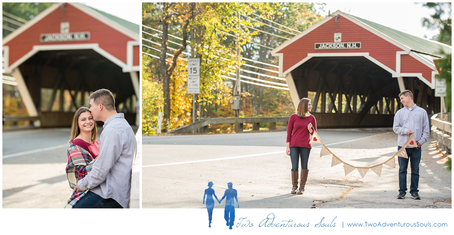 Cathedral Ledge Engagement - New Hampshire Wedding Photographers - Covered Bridge Engagement