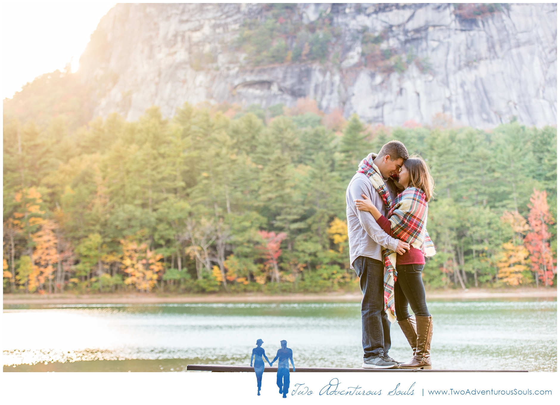 Cathedral Ledge Engagement - New Hampshire Wedding Photographers - Echo Lake Engagement