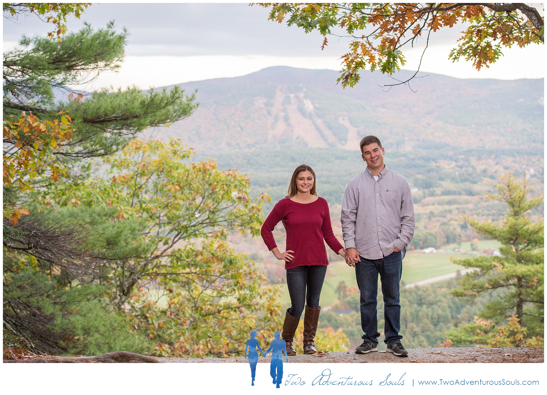 Cathedral Ledge Engagement - New Hampshire Wedding Photographers -