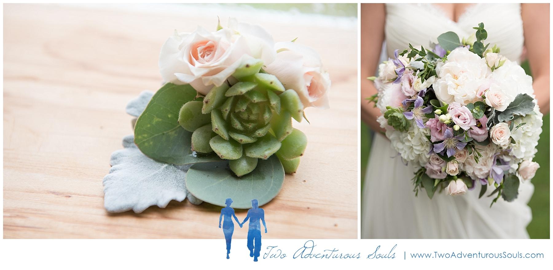 Dexter's Inn Wedding, New Hampshire Wedding Photographers_Bridal Bouquet, Succulents