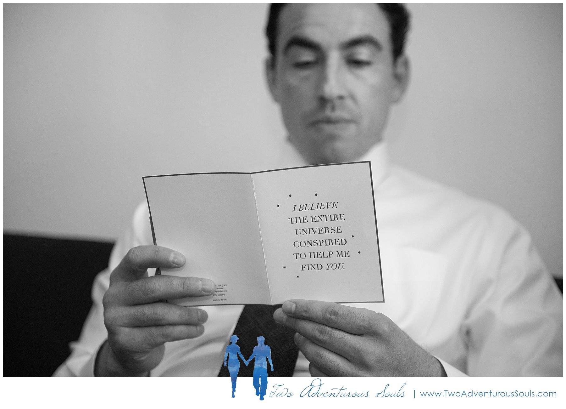 Inn on Peaks Island Wedding by Maine Wedding Photographers - Letter to the groom