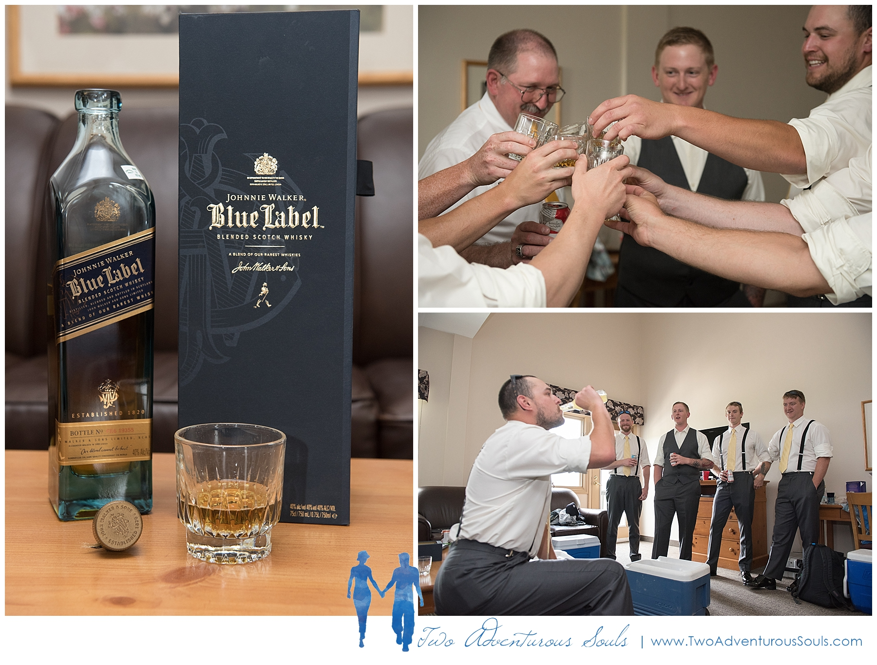 Sunday River Wedding, Maine Wedding Photographers - Groomsmen toast