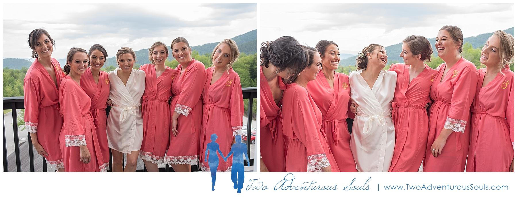 Sunday River Wedding, Maine Wedding Photographers - Bridesmaid Robes