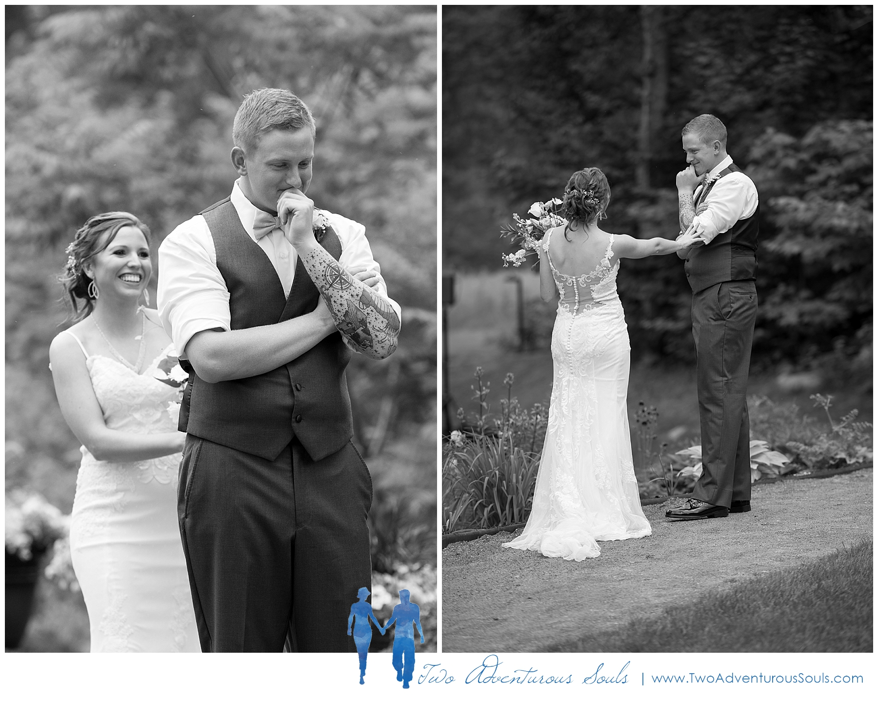 Sunday River Wedding, Maine Wedding Photographers - First Look at Sunday River