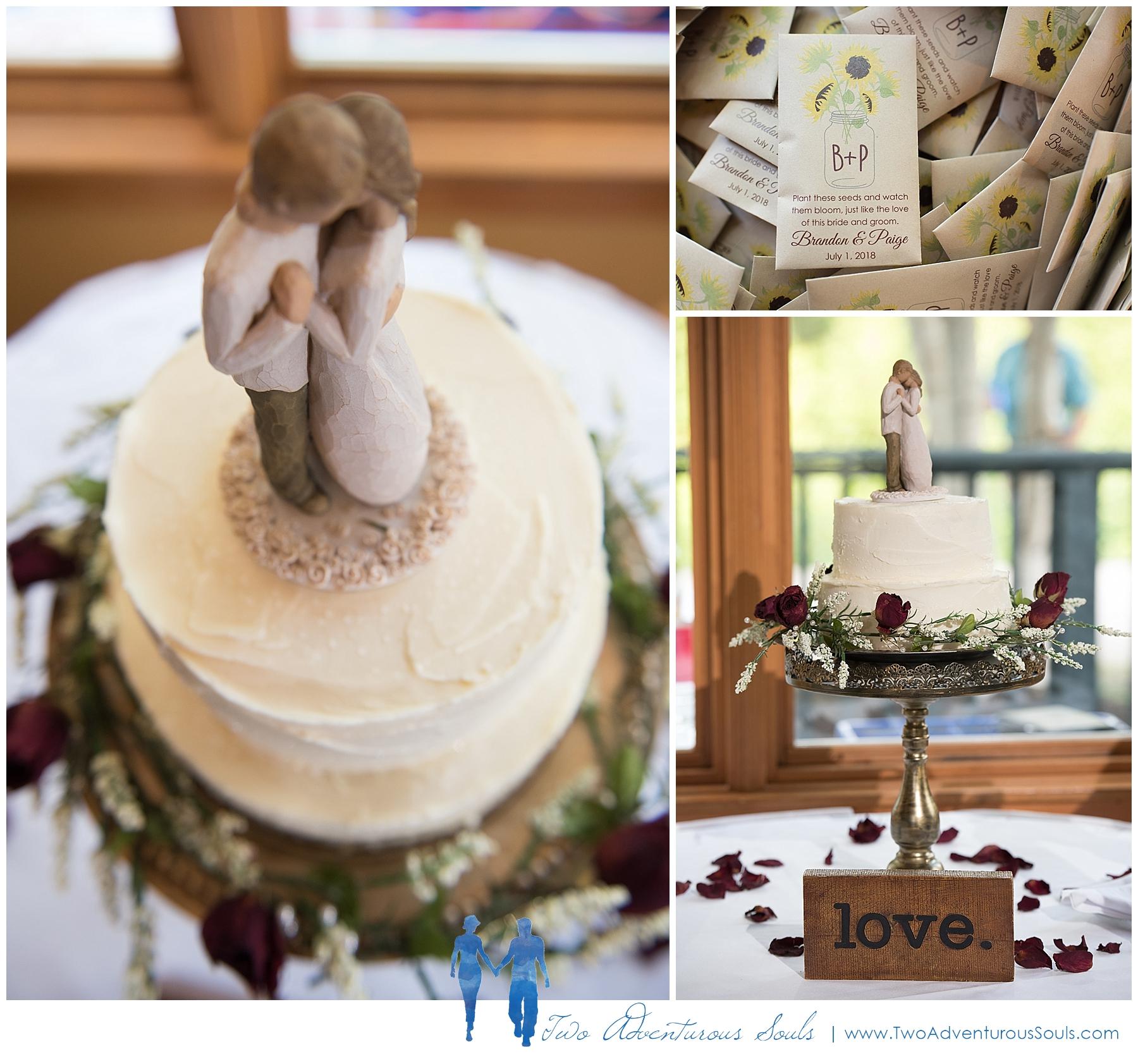 Sunday River Wedding, Maine Wedding Photographers - Wedding Cake