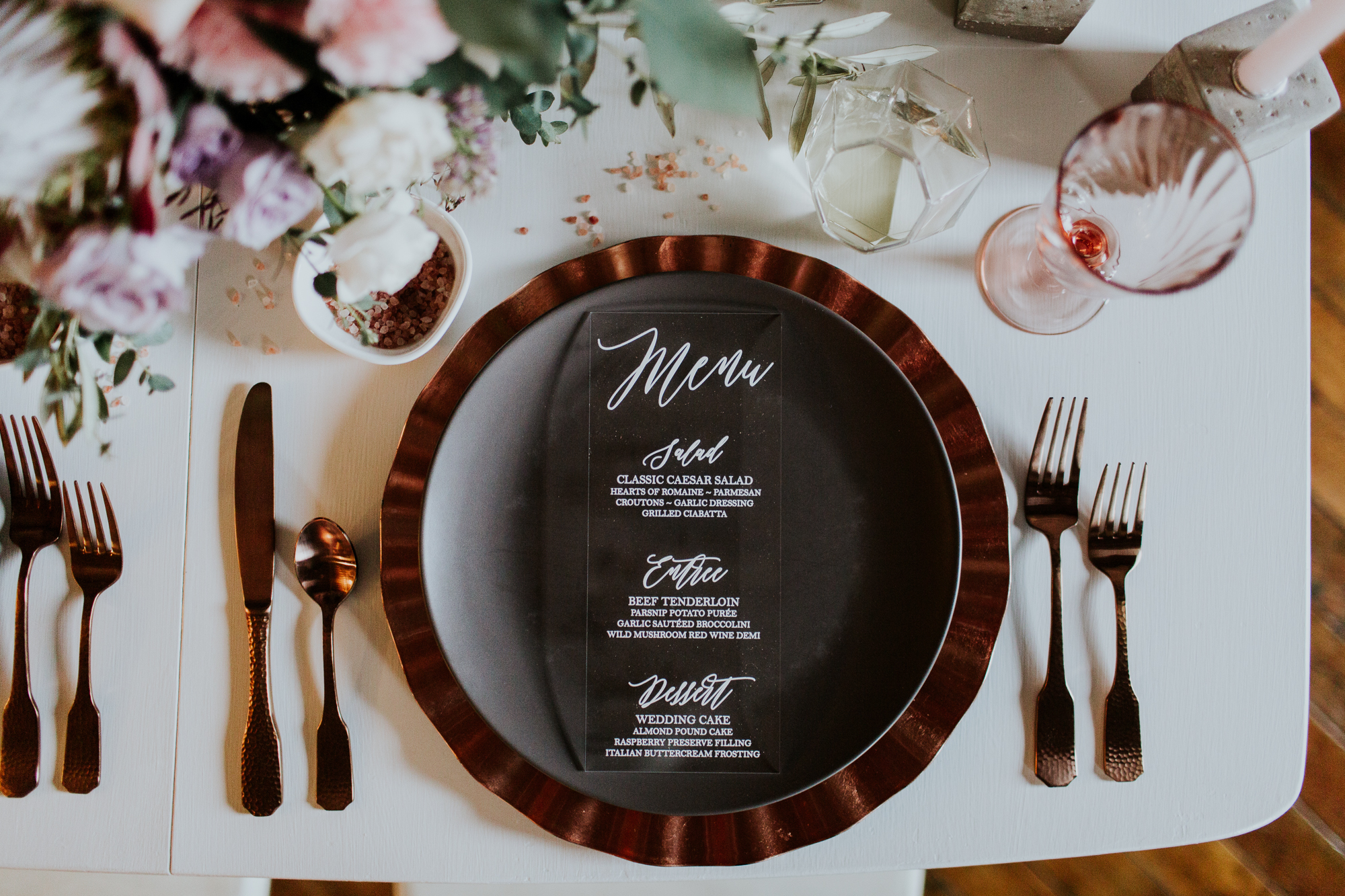 Acrylic menu by    Paper and Pine Co.    | Photo by    Emily Hary Photography