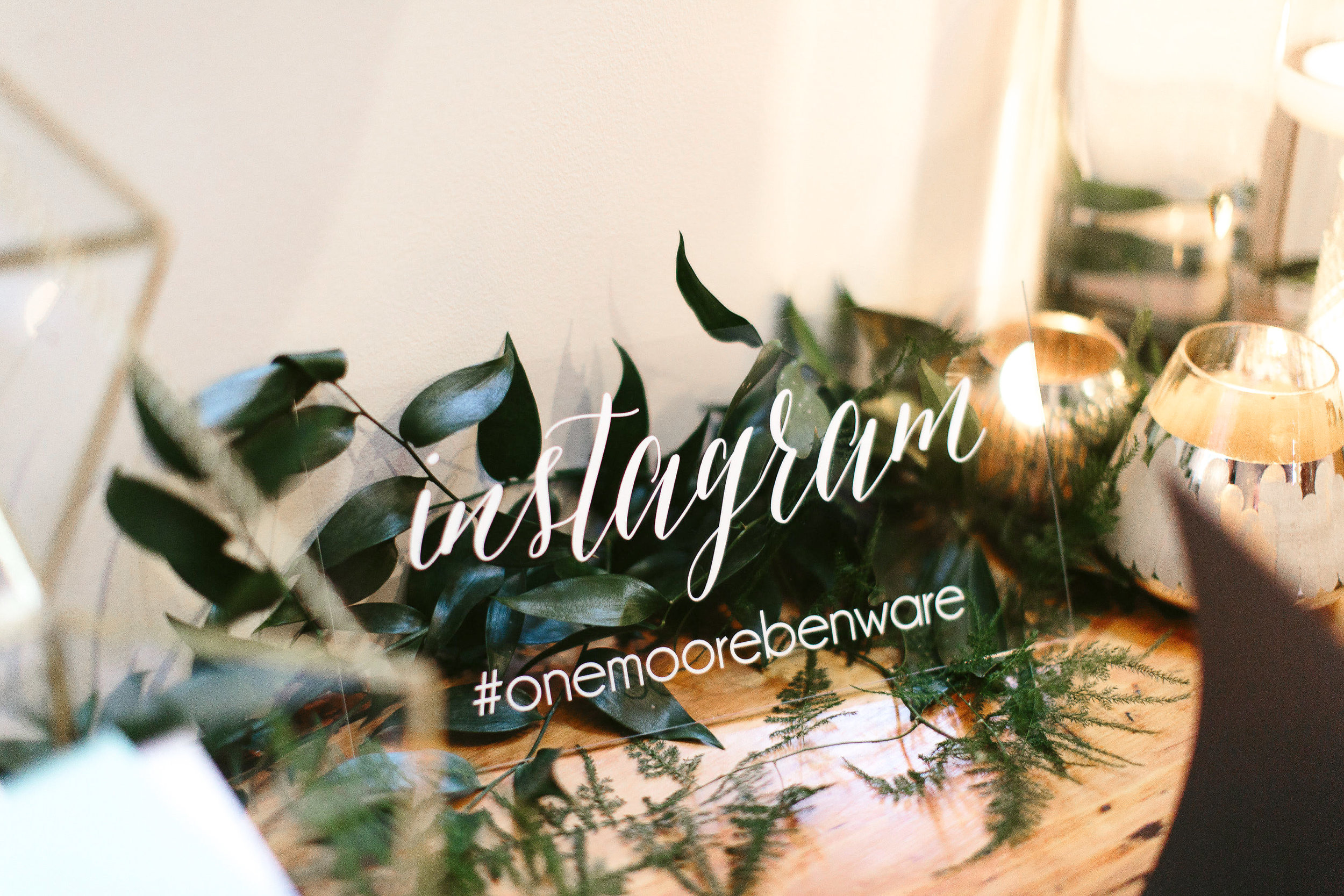 Acrylic Instagram Sign by    Paper and Pine Co.