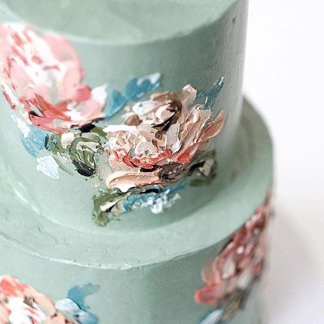 A true (and delicious!) work of art by @buttercream_bakery  #engaged #engaged💍 #isaidyes #isaidyes💍 #heasked #weddingplanning #weddinginspiration #wedding #bride #engagementring #weddingring #engagement #engagements #wedding #bridalbox #bridalsubscriptionbox #bridalgift