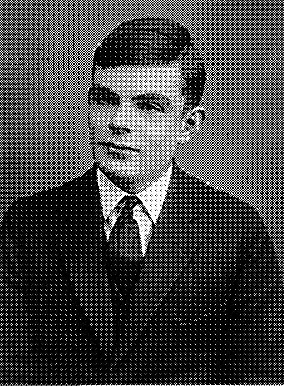 Alan Mathison Turing ,  OBE  ( Paddington ,  Londres ,  23 de junio  de  1912 - Wilmslow ,  Cheshire ,  7 de junio  de  1954 ), fue un  matemático ,  lógico ,  científico de la computación ,  criptógrafo ,  filósofo , maratoniano y corredor de ultradistancia  británico .  Es considerado uno de los padres de la  ciencia de la computación  y precursor de la  informática  moderna. Proporcionó una influyente formalización de los conceptos de  algoritmo  y computación: la  máquina de Turing . Formuló su propia versión que hoy es ampliamente aceptada como la  tesis de Church-Turing  (1936).
