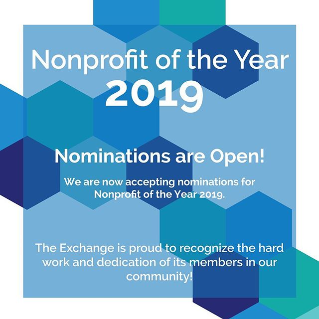 NOMINATIONS ARE OPEN! We are proud to announce our first-ever Nonprofit of the Year Award, an honor that highlights the incredible work of one outstanding nonprofit serving North Louisiana. The recipient will be recognized at the Ruston-Lincoln Chamber Awards Banquet in January 2020 for their continued service to our region. To view the guidelines and submit a nomination, visit our website at exchangenla.org/noya! Link in the bio!