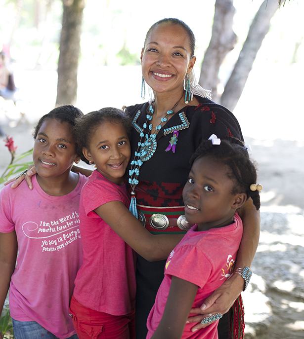 Radmilla Cody , Miss Navajo Nation '97-'98, Grammy-nominated artist  Radmilla Cody is a GRAMMY Nominee, multiple Native American Music Awards winner, 46th Miss Navajo Nation, one of NPR's 50 great voices, a Black History Maker Honoree, and an advocate against sexual and gender-based violence. Miss Cody is of the Tla'a'schi'i'(Red Bottom People) clan and is born for the Naahilii (African-Americans). She was raised in the beautiful and picturesque plateaus of the Navajo Nation. A survivor of domestic violence, Radmilla uses her personal experiences to advocate strongly against the epidemic of violence. As a biracial person she attempts to communicate positive messages about her dual identity as children who are biracial or multiracial still bear the brunt of prejudice.