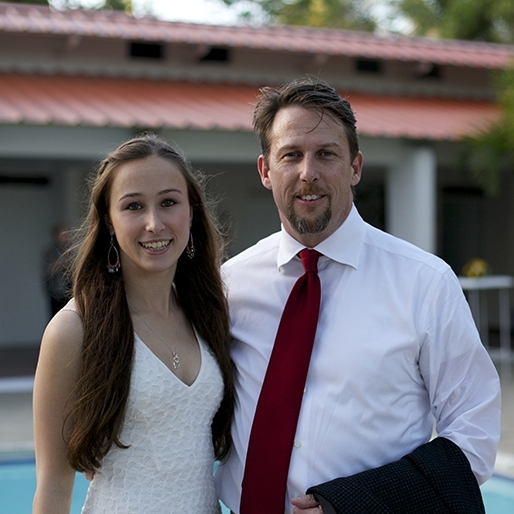 Jay Dunn with his daughter and fellow Mariposa supporter, Tori.