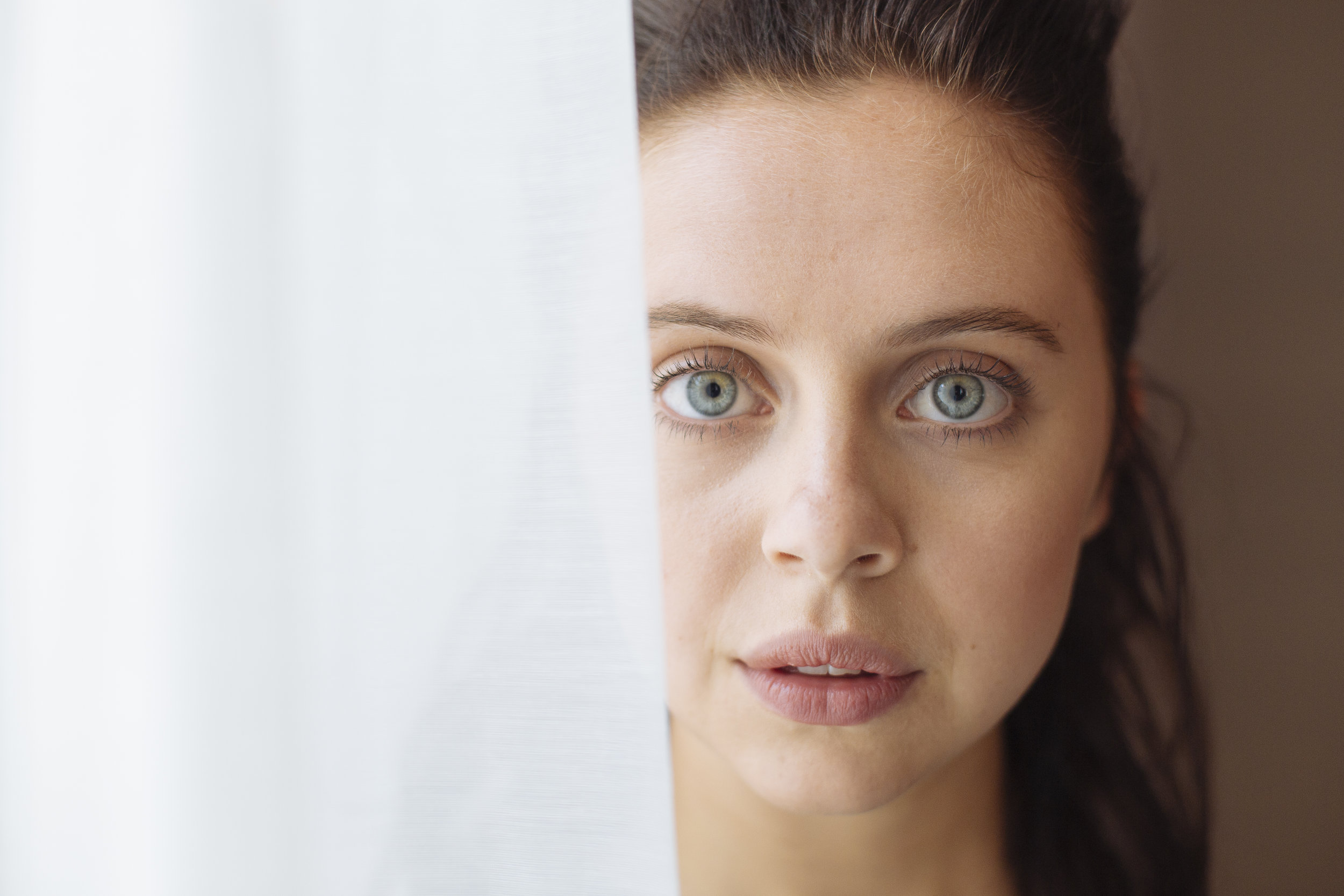 British actress Bel Powley poses for a portrait at a hotel in London, Wednesday, April 8, 2015. (David Azia for The New York Times)