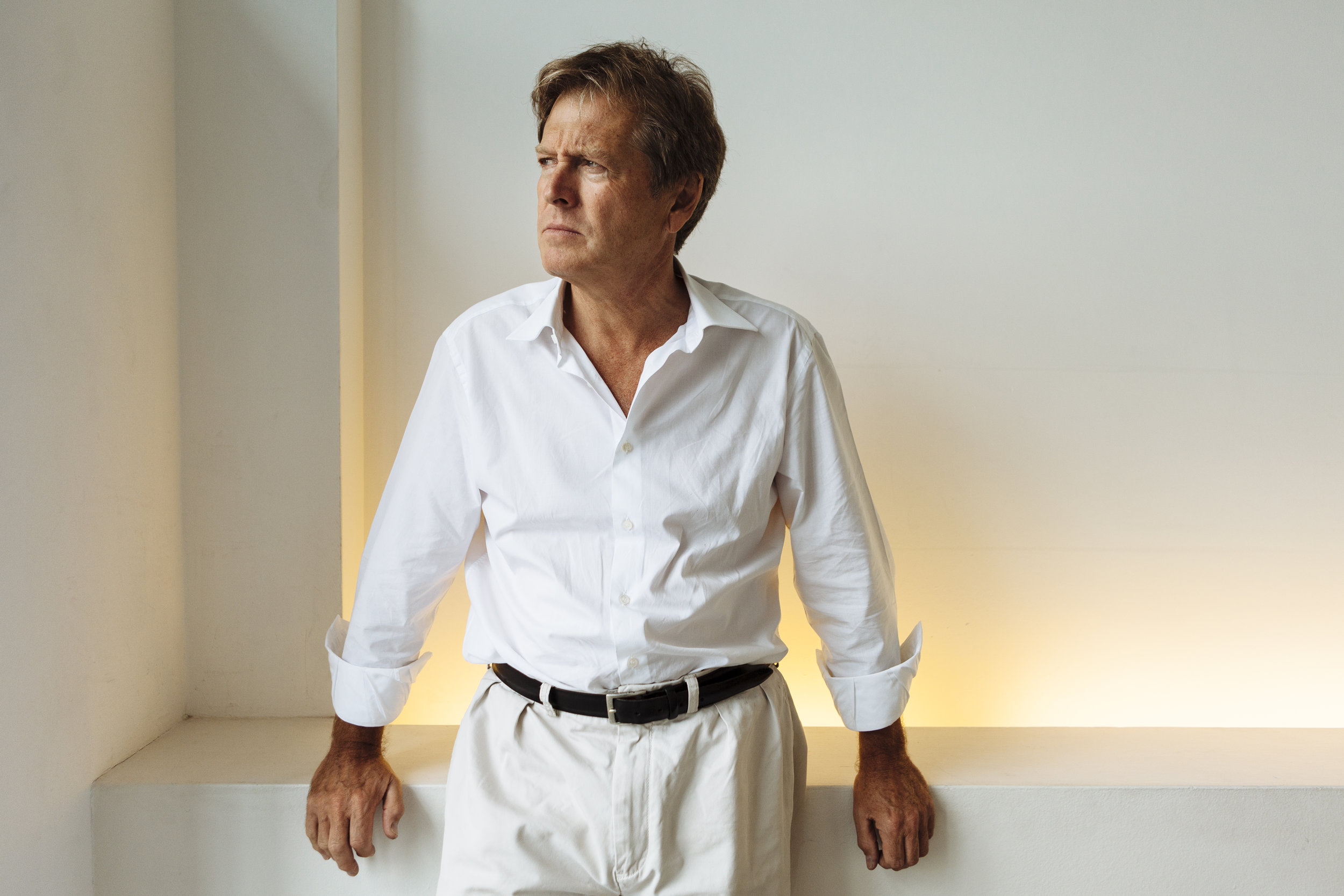 British architect and designer John Pawson poses for a portrait at his office near King's Cross, central London, Friday, Sept. 3, 2010. (David Azia for The New York Times)