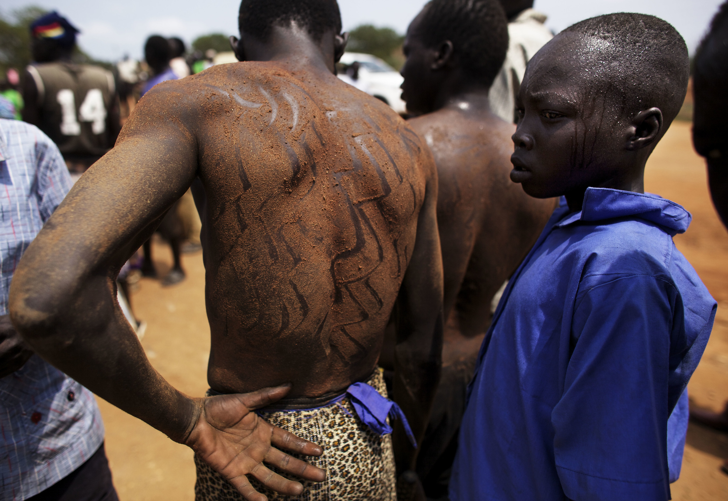 Youths gather following rehearsals for independence celebrations in Juba, southern Sudan, Tuesday, July 5, 2011. South Sudan is set to declare independence from the north on Saturday, July 9. (AP Photo/David Azia)