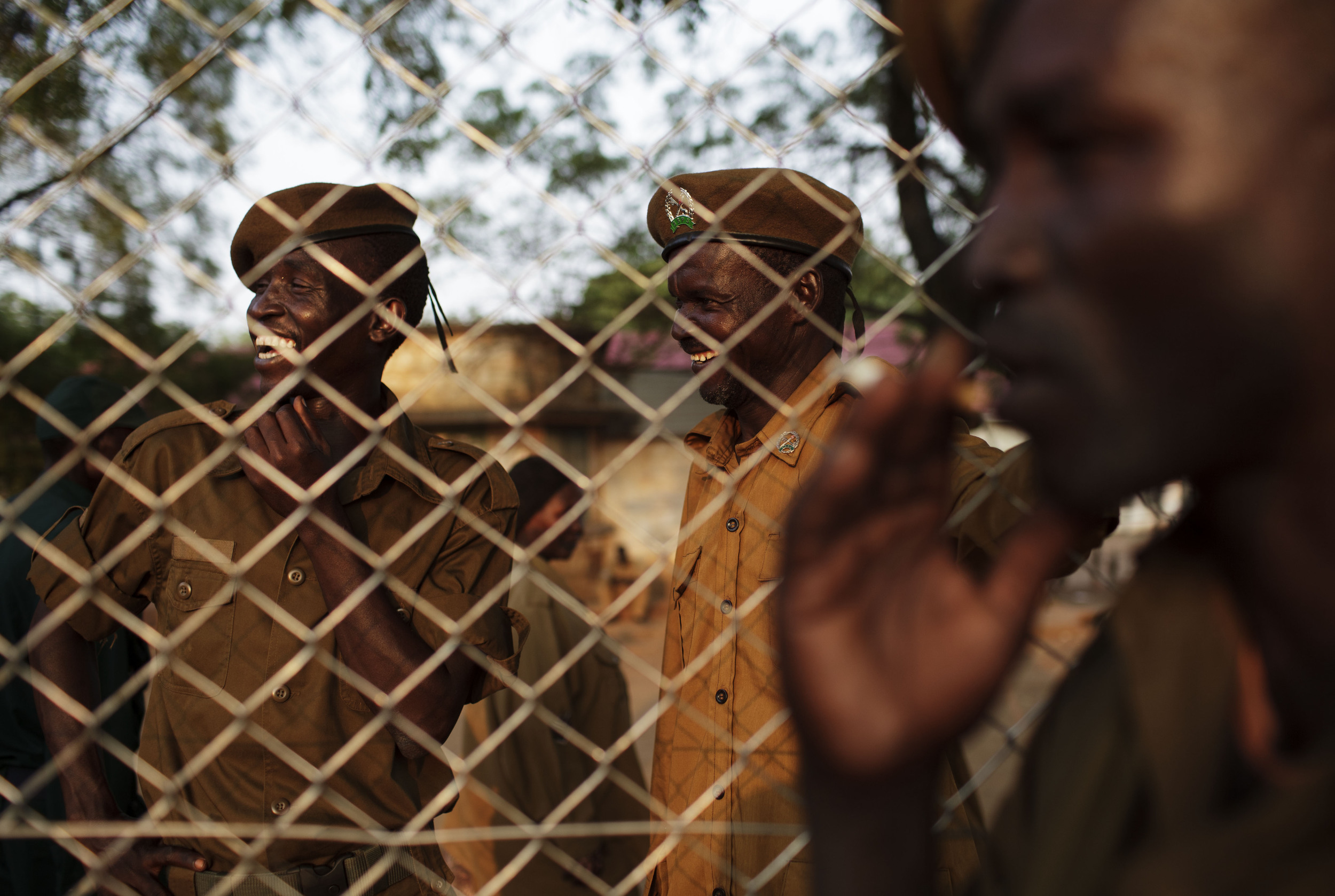 Prison Service officers attend celebrations by Bari community members on the eve of South Sudan's declaration of independence in Juba, southern Sudan, Friday, July 8, 2011. (AP Photo/David Azia)