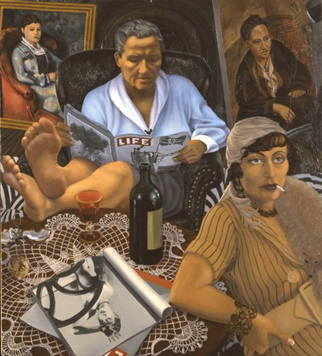 Gertrude Stein & Alice B. Toklas, Paris, October, 1939 Oil on copper 12 by 11 inches 2008