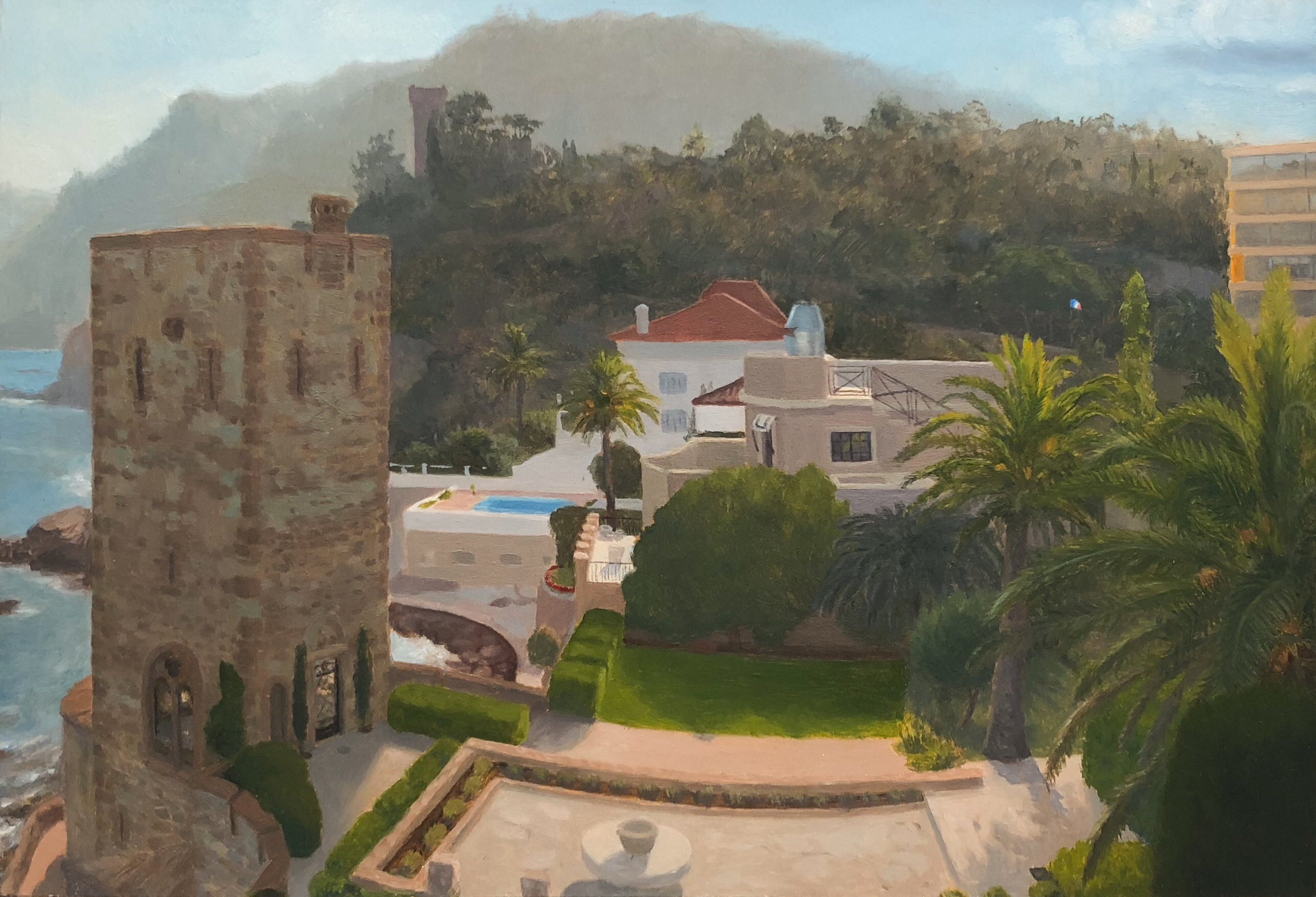 La Napoule - Afternoon Oil on panel 5 1/2 by 8 inches