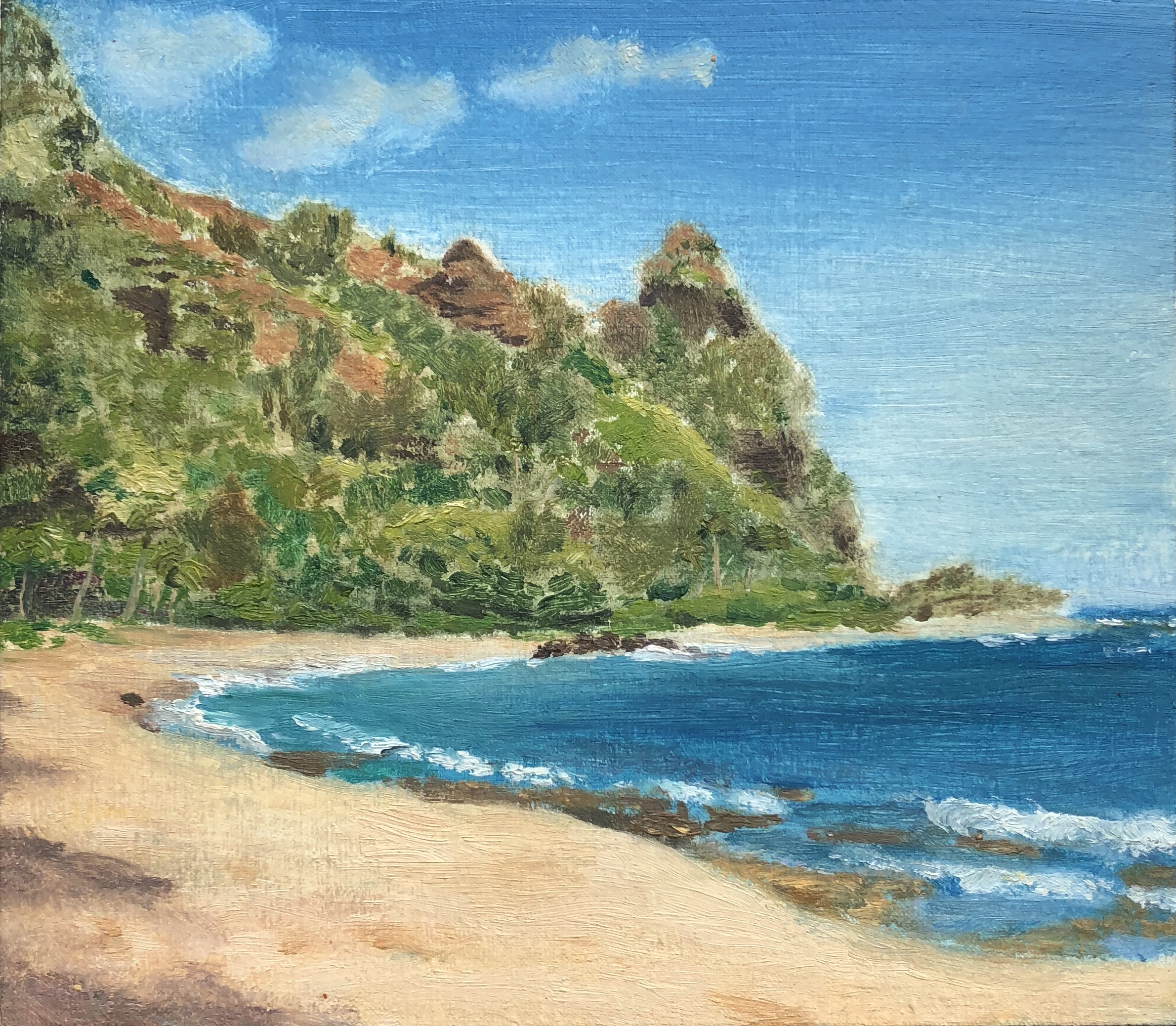 Ha'ena State Park Oil on linen 6 x 7 inches 2008