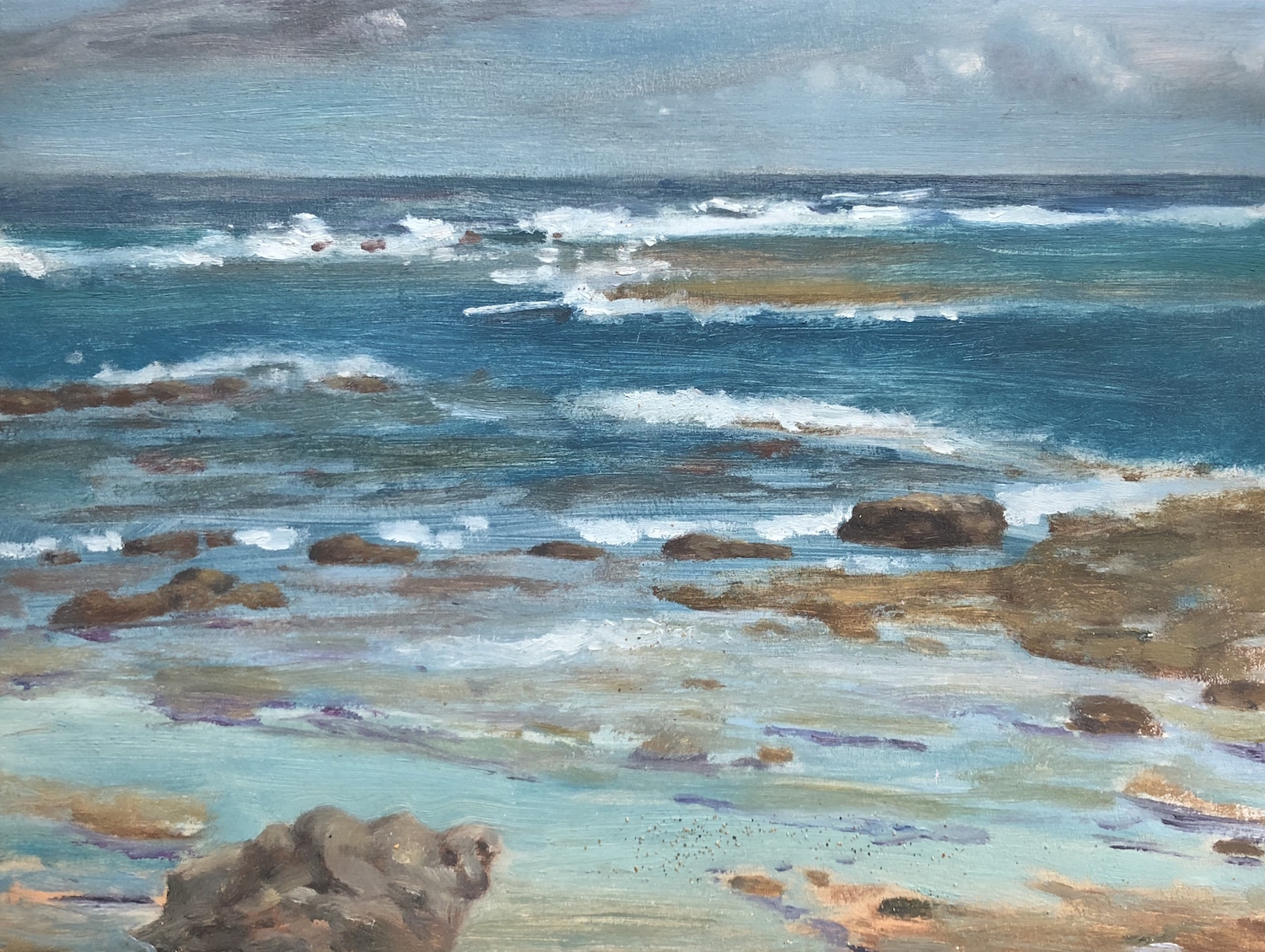 Ha'ena Storm Oil on linen 9 x 12 inches 2009