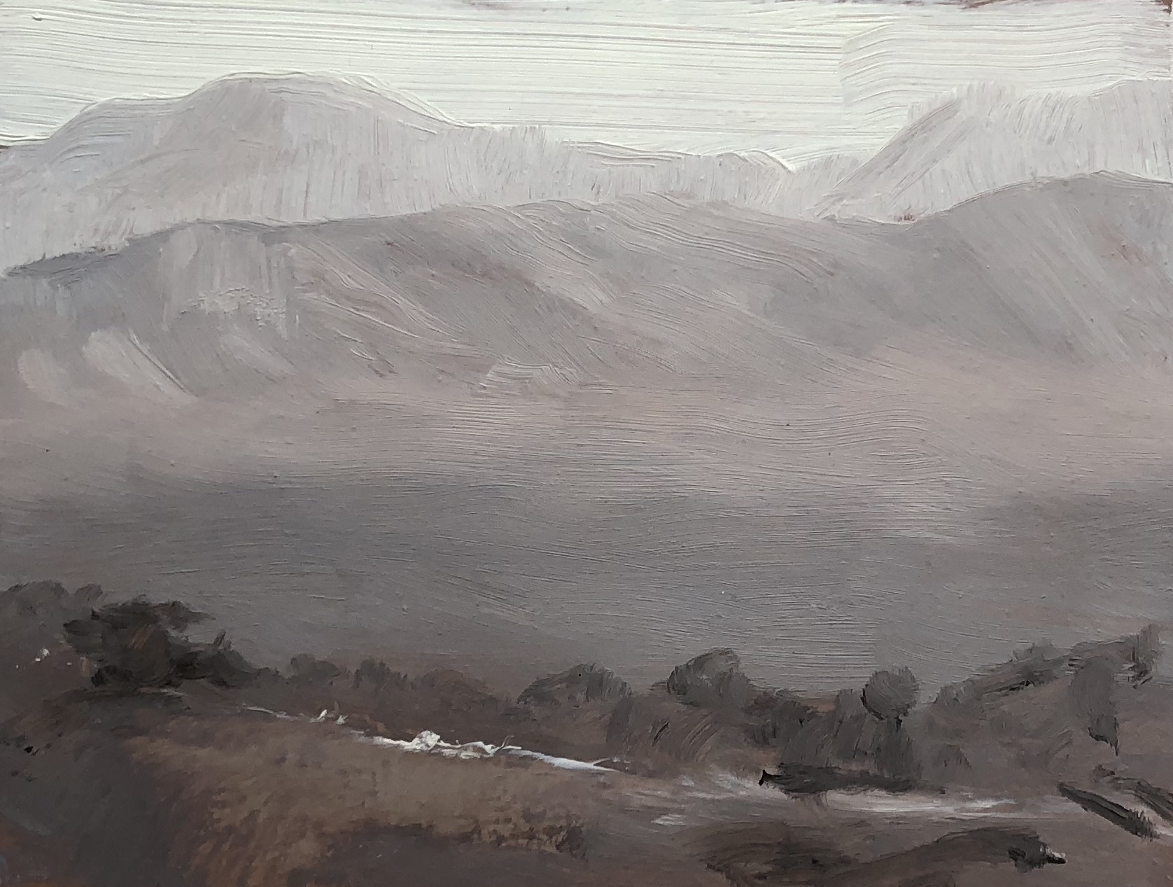 Burbank Value Study Oil on paper 3 by 5 inches 2016