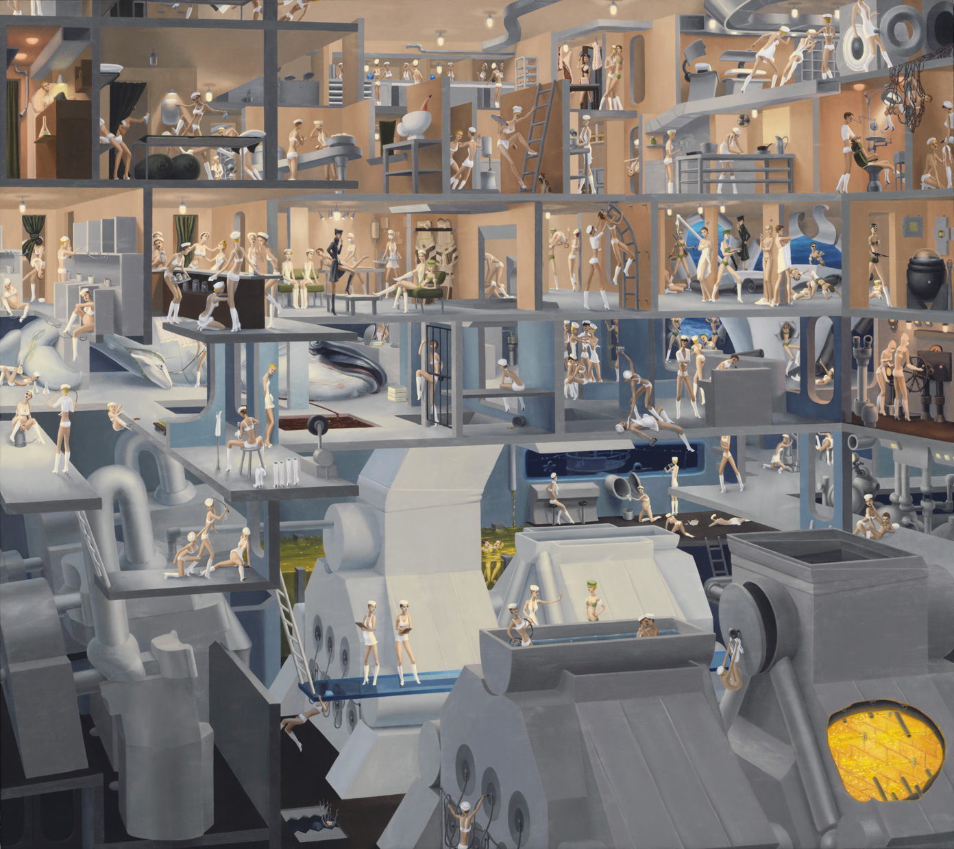 Heavy Cruisers Oil on linen 33 by 37 inches 2004  Click on image for detail shots