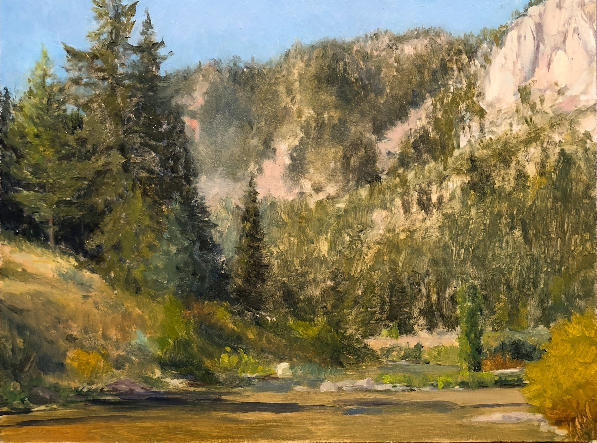 Flat Creek, Wyoming  2018 6 by 8 inches Oil on linen panel