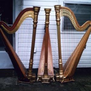 Three Lyon & Healy Harps