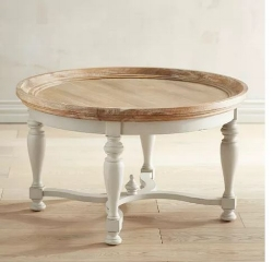 Pier 1 Amelia Collection Natural Stonewash Round Coffee Table