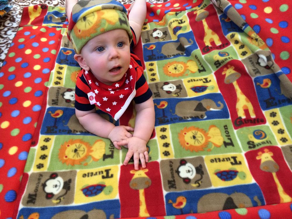 baby hat & blanket on Rachel's nephew 2014.jpg