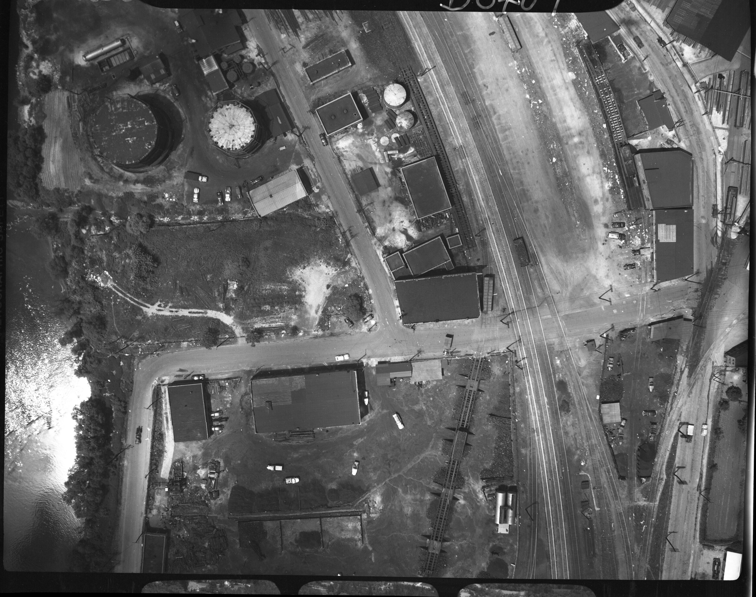 Aerial Photo of CURVE Studios from the 1950s by Samuel A. Bingham Jr.