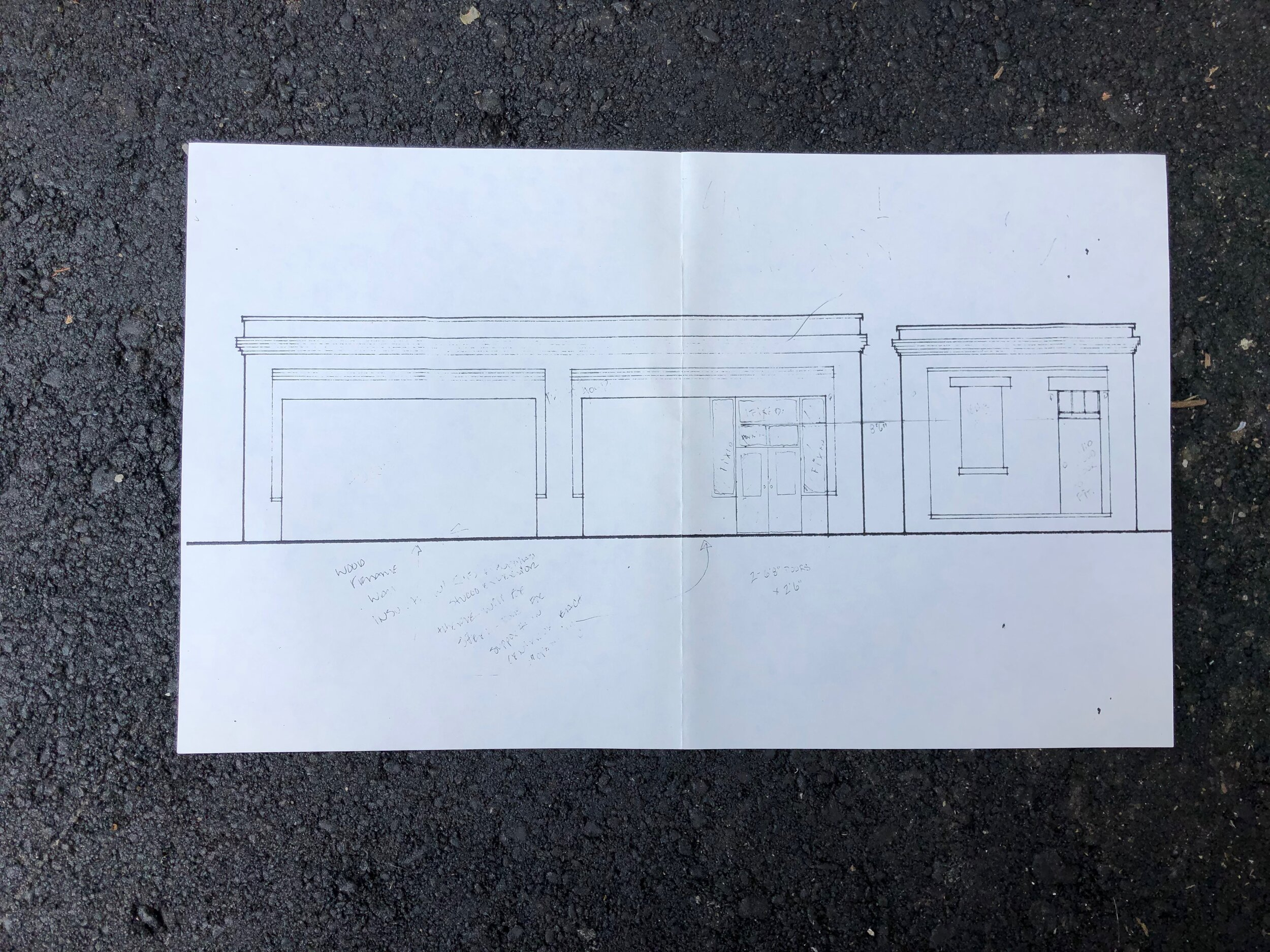 Architectural drawing from 1992 of #5 River Arts Place