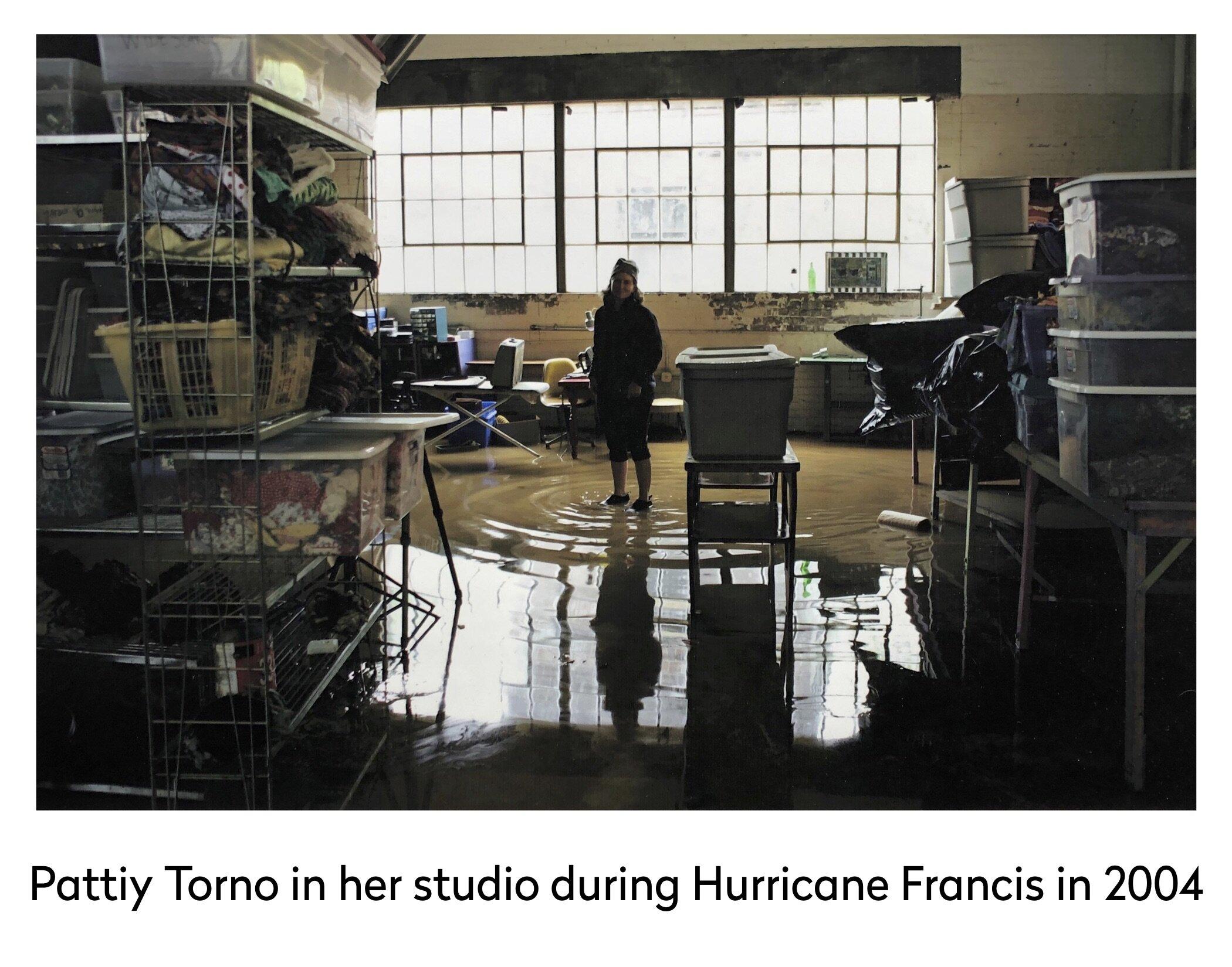 pattiy in studio hurricane francis 2004.jpg