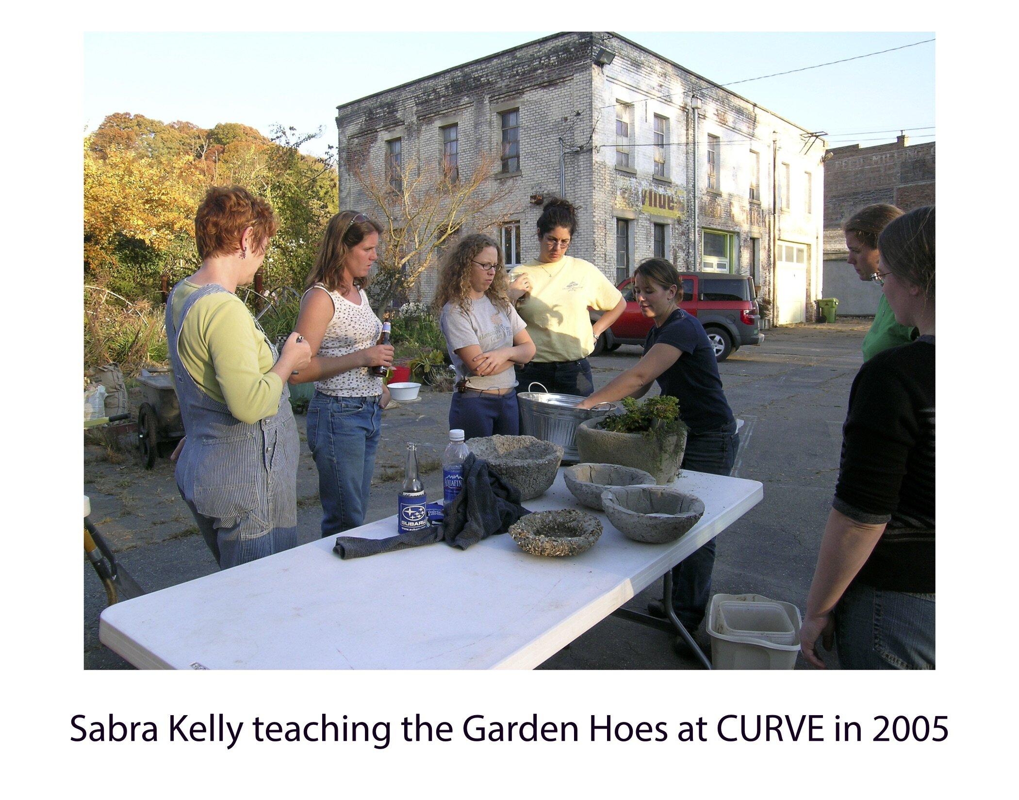 sabra kelly teaching garden hoes 2005.jpg