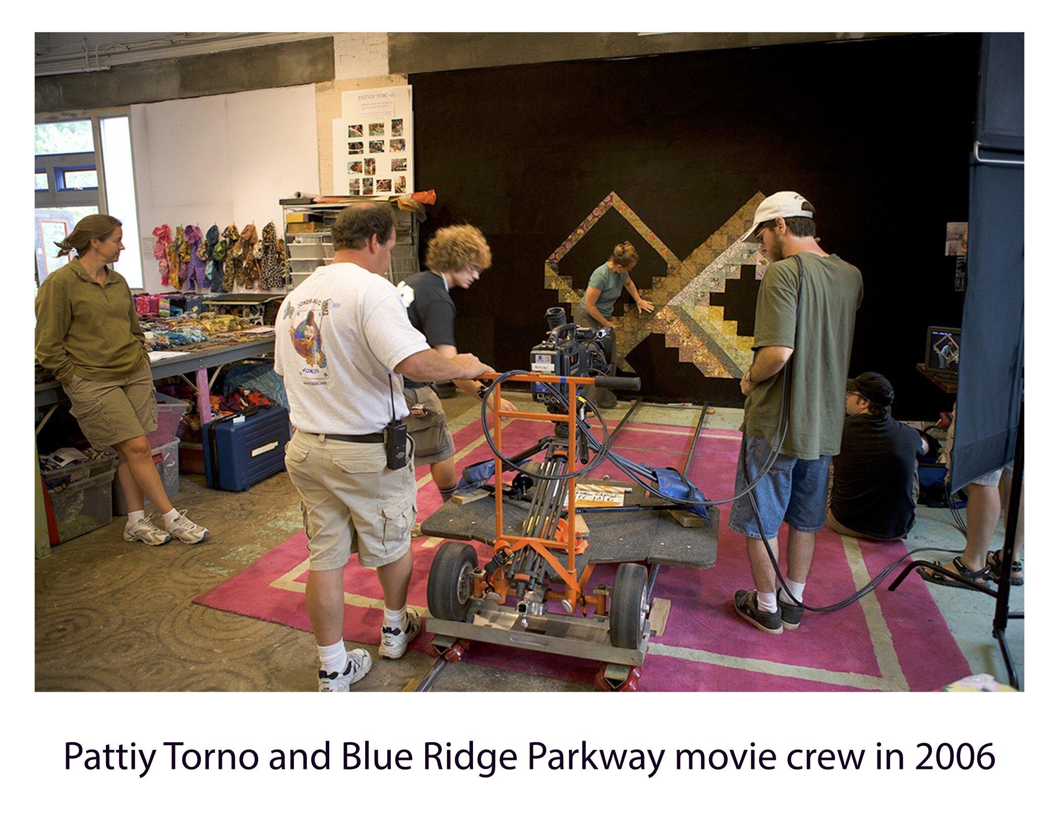 pattiy and blue ridge parkway movie crew 2006.jpg