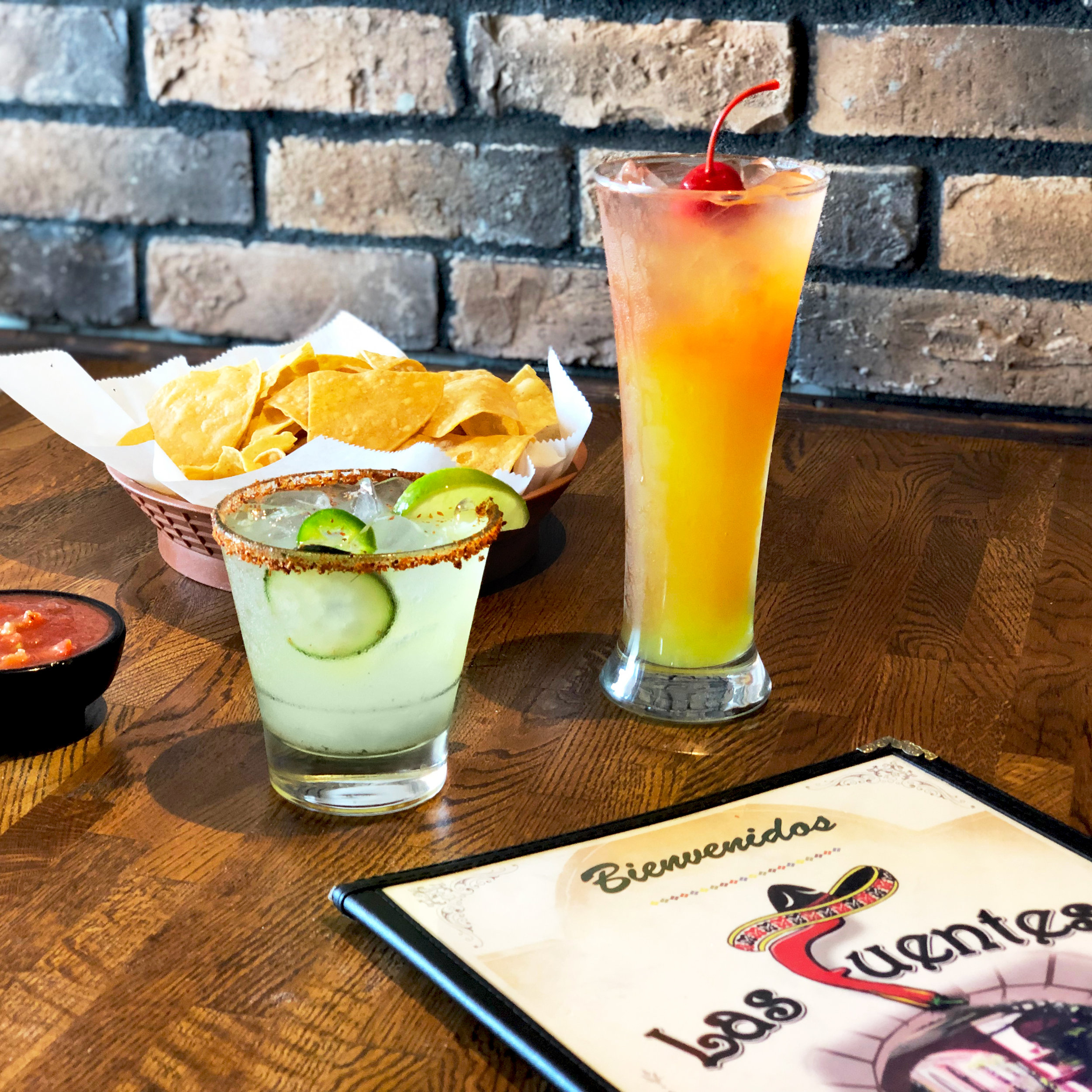 Margarita and mixed drink with menu cropped square.jpg