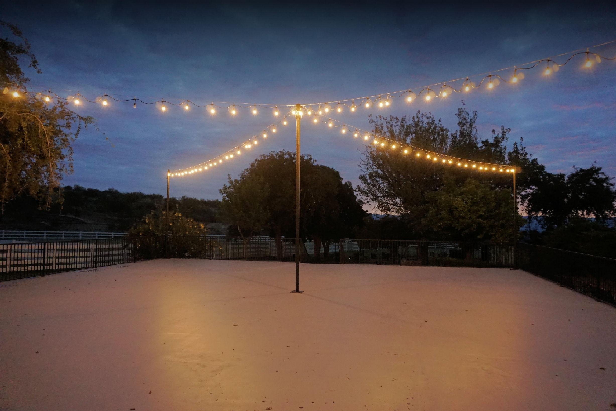 Dance floor glow from lights early morning.jpg