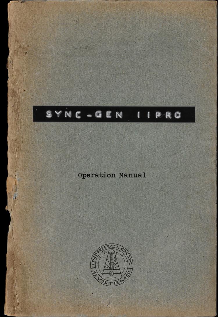 Sync-Gen IIPRO Operation Manual